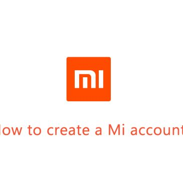 How to create a Mi account